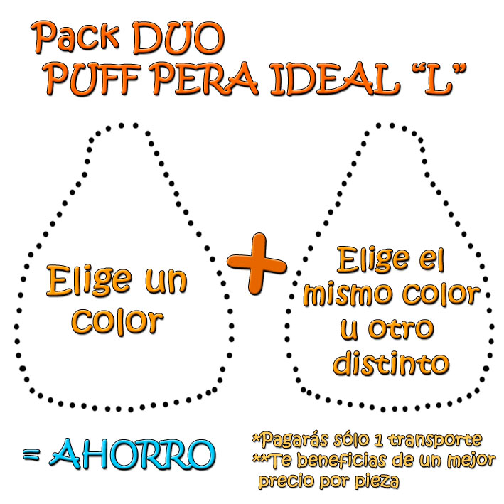 pack duo puff pera ideal - Como Hacer Un Puff Pera