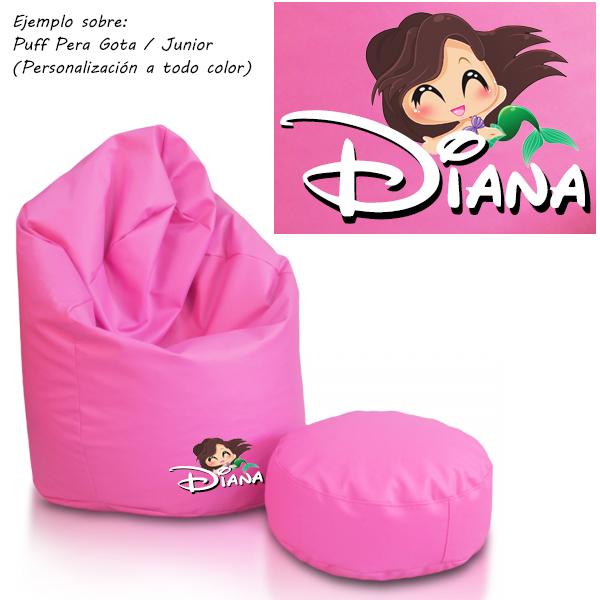 personalizacion-puff-polipiel-rosa-sirenita