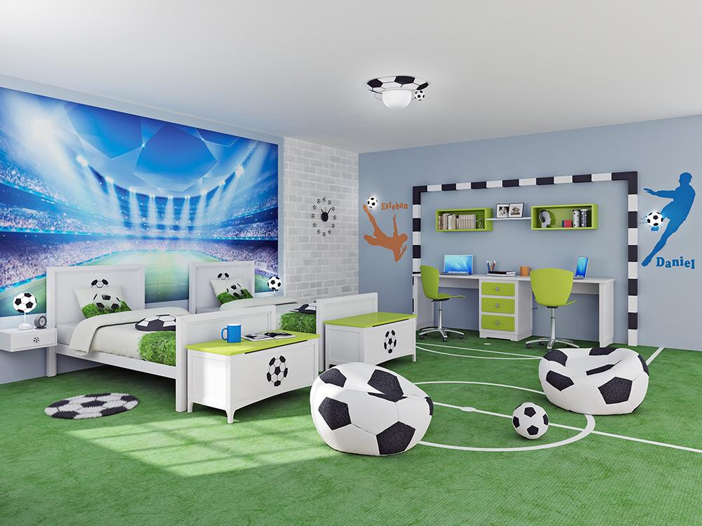 for Decoracion de cuartos de ninos de futbol