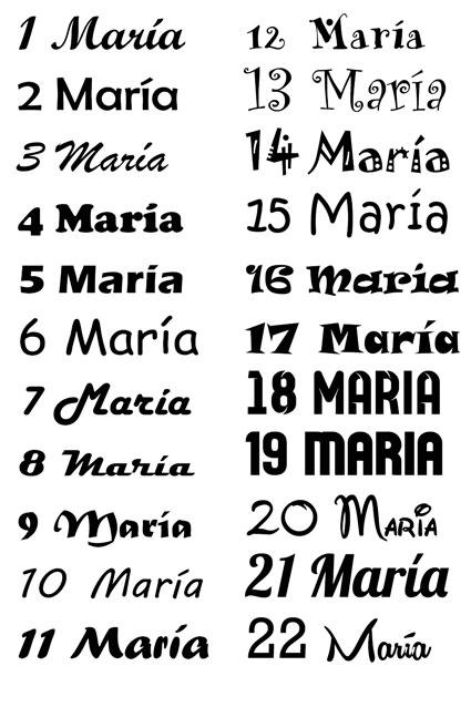 Tipografías para personalizar un puff